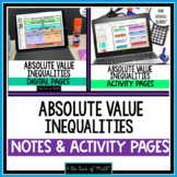 Absolute Value Inequalities Digital Note and Activity Page