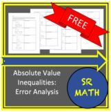FREE Absolute Value Inequalities: Error Analysis