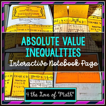 Absolute Value Inequalities: Foldable Page