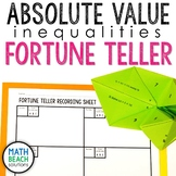 Absolute Value Inequalities Fortune Teller Activity