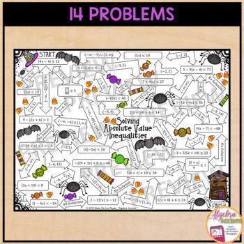 Absolute Value Inequalities Halloween Maze
