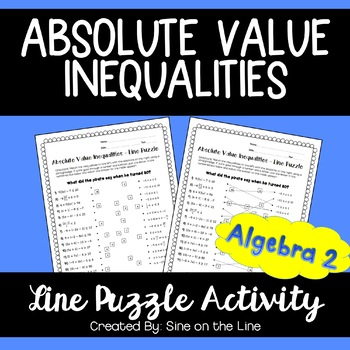 Absolute Value Inequalities: Line Puzzle Activity