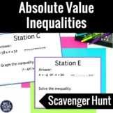 Absolute Value Inequalities Scavenger Hunt