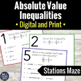 Absolute Value Inequalities Stations Maze
