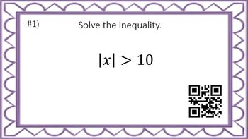 Absolute Value Inequalities - Task Cards & Interactive Video Lesson!