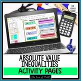 Absolute Value Inequality Activity Pages for Google Slides™