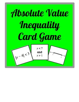 Absolute Value Inequality Card Game