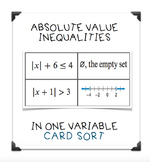 Absolute Value Inequality Card Sort
