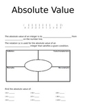 Absolute Value Interactive Notebook