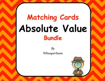 Absolute Value Matching Cards Bundle