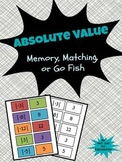 Absolute Value: Matching, Memory, or Go Fish Game