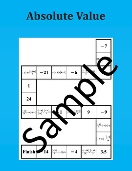 Absolute Value – Math Puzzle