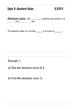 Absolute Value (Mini Lesson)