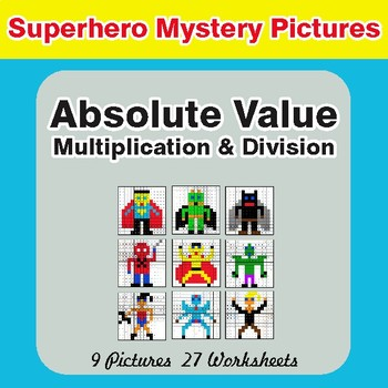 Absolute Value (Multiplication & Division) Color-By-Number