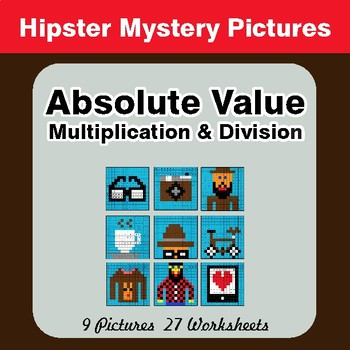 Absolute Value - Multiplication & Division - Color-By-Number Math Mystery Pictures
