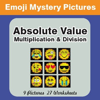 Absolute Value (Multiplication & Division) EMOJI Mystery Pictures