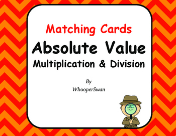 Absolute Value: Multiplication & Division - Matching Cards