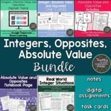 Absolute Value, Opposites, and Integers Bundle-TEKS 6.2B