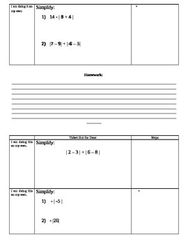 Absolute Value Packet(7.NS.1, 7.NS.1a; Mathematical Practices 1, 2, 3, 4, 7)