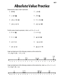 Absolute Value Practice