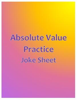 Absolute Value Practice Joke Sheet