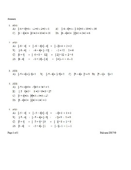 Absolute Value Problems and Equations