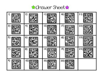 Absolute Value **QR CODE Task Cards**