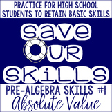 Absolute Value SOS (Save Our Skills)