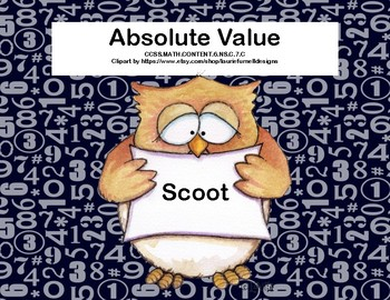 Absolute Value Scoot-Grade 6-32 Task Cards Included