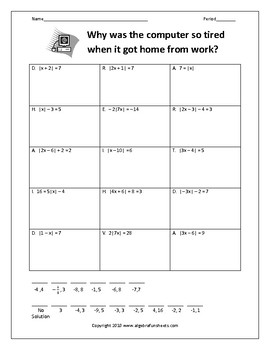 solving absolute value equations worksheet - Solving Absolute Value Equations Worksheet