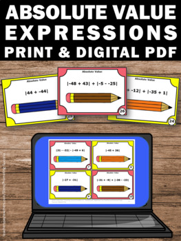 Absolute Value Task Cards, Simplify Rational Expressions