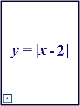 Absolute Value Transformation Flash Cards
