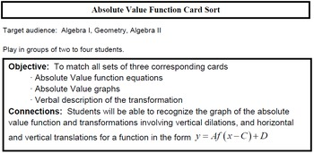 Absolute Value Transformation Graph Match