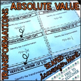 Absolute Value Transformations Activity