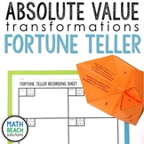 Absolute Value Transformations Fortune Teller Activity