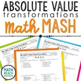 Absolute Value Transformations Math MASH Activity