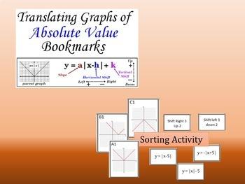 Graphing Absolute Value Translation Mini-Unit~~Investigation Wksht~Sort~Homework
