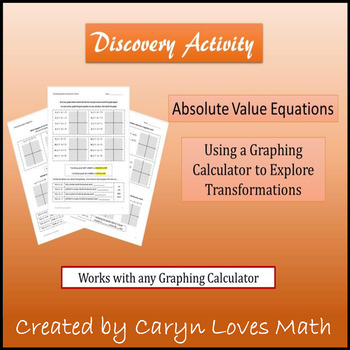 Graphing Absolute Value Translation Investigation Workshee