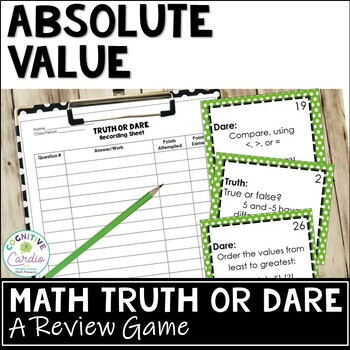 Absolute Value Truth or Dare Math Game