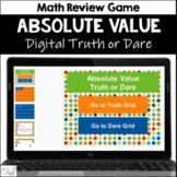 Absolute Value Truth or Dare Math Game for Google Classroom