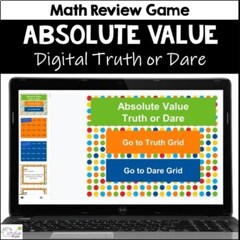 Absolute Value Truth or Dare Review Game for Google Classroom