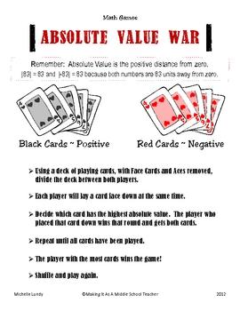 Absolute Value War