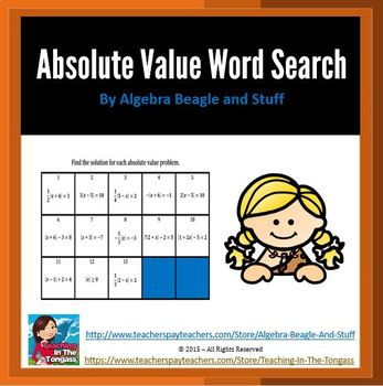 Absolute Value Word Search