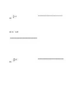 Absolute Value and Inequality Quiz