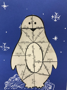 Absolute Value and Integers Penguin Puzzle for Display