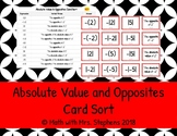 Absolute Value and Opposites Card Sort