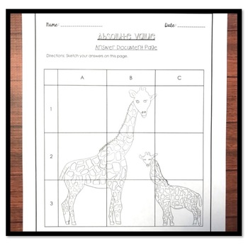 Absolute Value and Opposites Solve and Sketch Activity