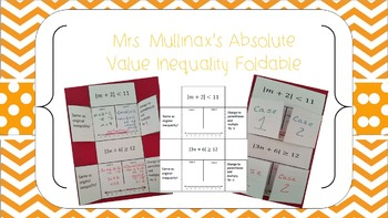 Absolute Value equations foldable