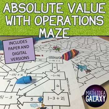 Absolute Value with Operations Maze Activity