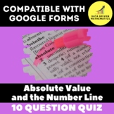 Absolute Values and the Number Line Quiz for Google Forms™